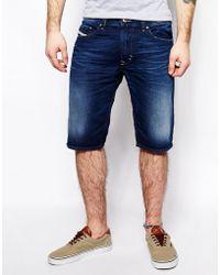 Diesel Denim Shorts Thavar Slim Fit - Lyst
