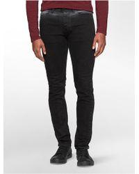 Calvin Klein | Jeans Slim Leg Powder Black Wash Jeans | Lyst