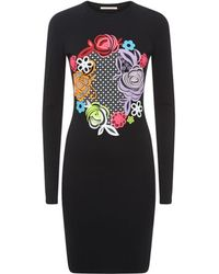 Christopher Kane Multi Floral Motif Bodycon Dress - Lyst