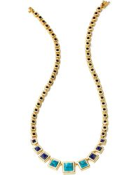 Eddie Borgo Graduated Pyramid Necklace - Lyst