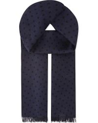 J.Lindeberg - Aldo Double Dotted Wool Scarf - Lyst