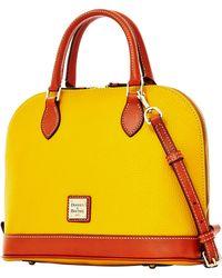 Dooney & Bourke Zip Zip Pebbled Leather Satchel - Lyst