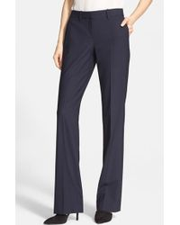 Theory Women'S 'Custom Max' Stretch Wool Pants - Lyst