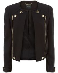 Juicy Couture Pitch Ponte Jacket black - Lyst