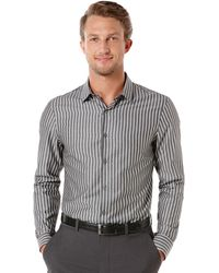 Perry Ellis Big And Tall Striped Textured Shirt - Lyst