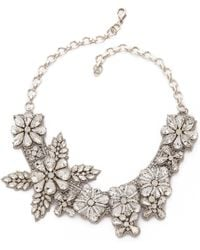 Deepa Gurnani | Crystal Floral Necklace - Ivory | Lyst