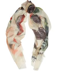 Burberry Prorsum | Printed Cashmere Scarf | Lyst