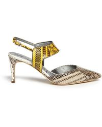 Sam Edelman Ola' Snake Effect Leather Slingback Pumps - Lyst
