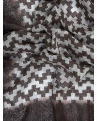 Richard James - Geometric-print Cashmere Scarf - Lyst