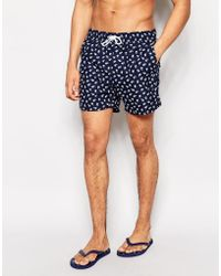 Another Influence Floral Swim Shorts - Blue
