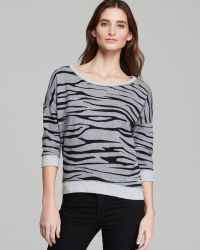 Two By Vince Camuto - Zebra Print Sweatshirt - Lyst