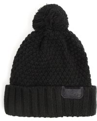 Diesel Kvirat Black Knit Beanie - Lyst