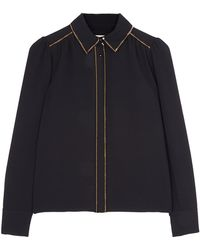 See By Chloé Black Embelished Tuxedo Shirt - Lyst