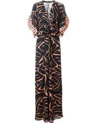 Issa Flower Applique Printed Dress - Lyst