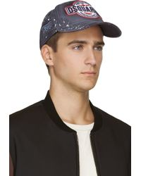 DSquared2 Navy Distressed Strike The Prison Logo Cap - Lyst