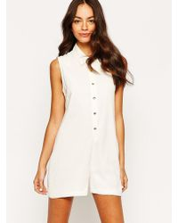 Never Fully Dressed - Button Down Playsuit - Lyst