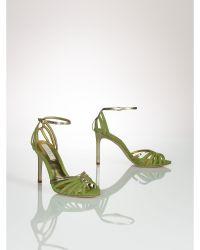 Ralph Lauren Suede Lilac Sandal - Lyst