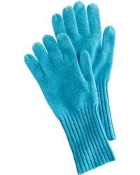 J.Crew Blue Cashmere Gloves - Lyst