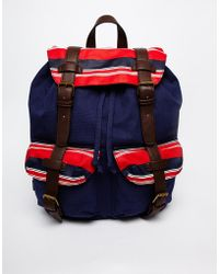 Asos Backpack with Stripe Pockets - Lyst