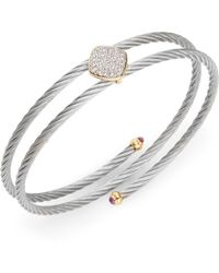 Charriol - Diamond, 18K Yellow Gold & Stainless Steel Bracelet - Lyst
