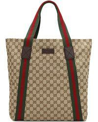 Gucci Canvas Tote - Lyst