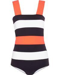 ROKSANDA - Antares Striped Swimsuit - Lyst