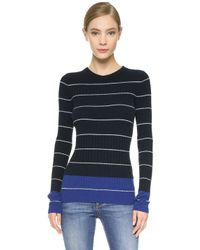 Maiyet | Striped Cashmere Sweater - White/blue Stripe | Lyst