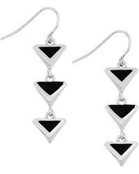 Sam Edelman Le Jardin Linear Earrings - Black