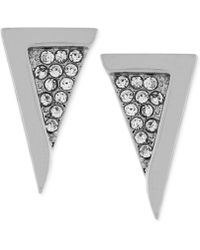 Vince Camuto - Crystal Pavé Triangle Stud Earrings - Lyst
