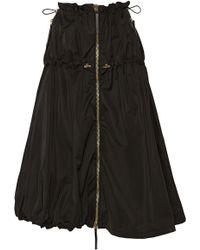 Marni Ruched Shell Midi Skirt - Lyst