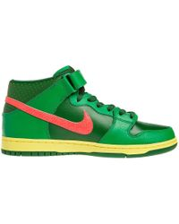 Nike Sb Dunk Mid Lucky Green/Fortress Green-Atomic Red - Lyst