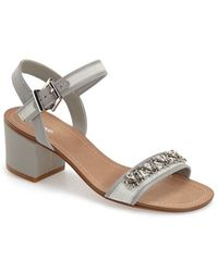 Dune | 'maisie' Embellished Block Heel Sandal | Lyst
