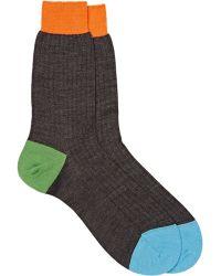 Richard James Rib-knit Mid-calf Socks - Black