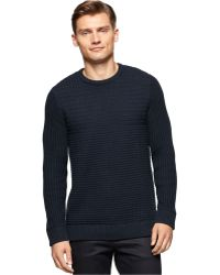 Calvin Klein | Basket Stitch Crew-neck Sweater | Lyst