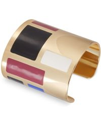 French Connection - Gold-tone Colorblock Cuff Bracelet - Lyst
