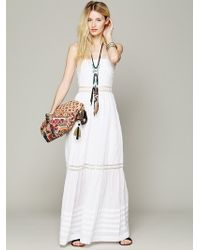 Free People Ami Pieced Lace Maxi - Lyst