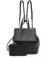 Alice + Olivia Alice  Olivia Tumbled Leather Backpack - Black - Lyst