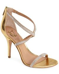 Vc Signature 'Geva' Crystal Embellished Strappy Sandal - Lyst