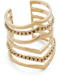 Sunahara Malibu Statement V Ring - Gold - Lyst