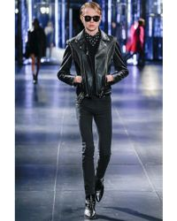 Saint Laurent V Neck Wool Jumper Vest - Black