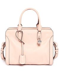 Alexander McQueen 'Padlock' Small Leather Tote - Lyst