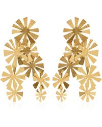 Herve Van Der Straeten Boucles D'Oreille Fleurs Earrings - Metallic