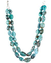 Ralph Lauren Turquoise Doublerow Necklace - Lyst
