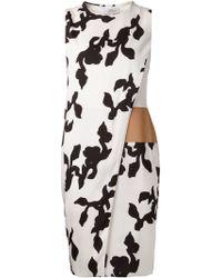 Narciso Rodriguez Botanical Print Dress - Lyst