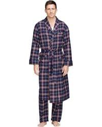 Brooks Brothers Signature Tartan Flannel Robe - Lyst