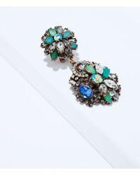 Zara Gray Jewel Earrings - Lyst