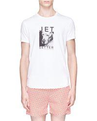 Orlebar Brown 'Tommy' Jet Setter Dog Print T-Shirt white - Lyst