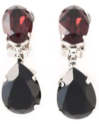 N°21 Teardrop Clip On Earrings - Black