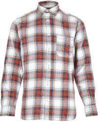 River Island Red Jack & Jones Vintage Check Shirt - Lyst