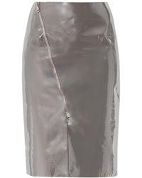 Richard Nicoll - Patent-leather Panel Skirt - Lyst